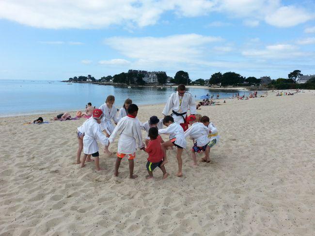 Activité judo Club de Plage Mickey du Men-Du La Trinite Sur Mer-Carnac