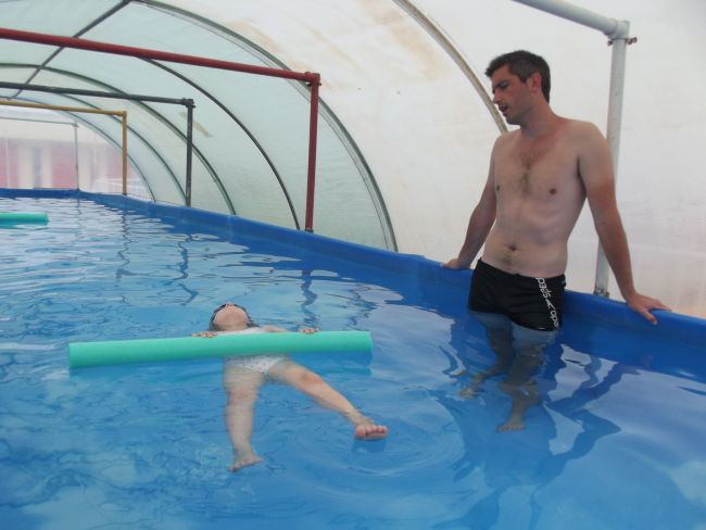 apprentissage à la nage